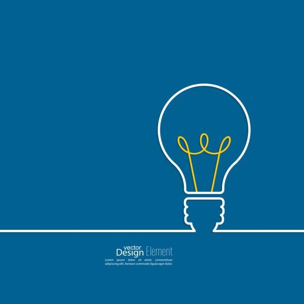 glühbirne licht-idee. - groß stock-grafiken, -clipart, -cartoons und -symbole
