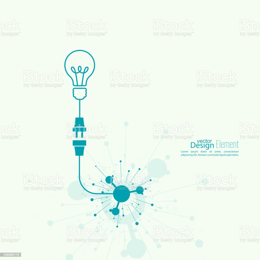 Bulb light idea. vector art illustration