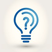 bulb with question mark