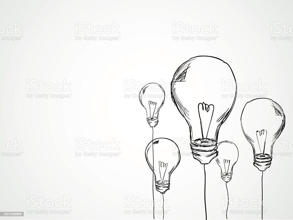 Bulbs Sketch Vector vector art illustration
