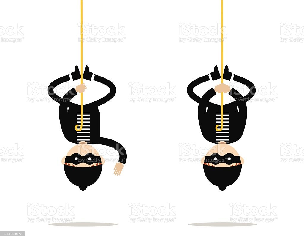 Bulgar hanging from the roof. vector art illustration