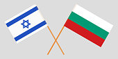 Bulgaria and Israel. The Bulgarian and Israeli flags. Official colors. Correct proportion. Vector