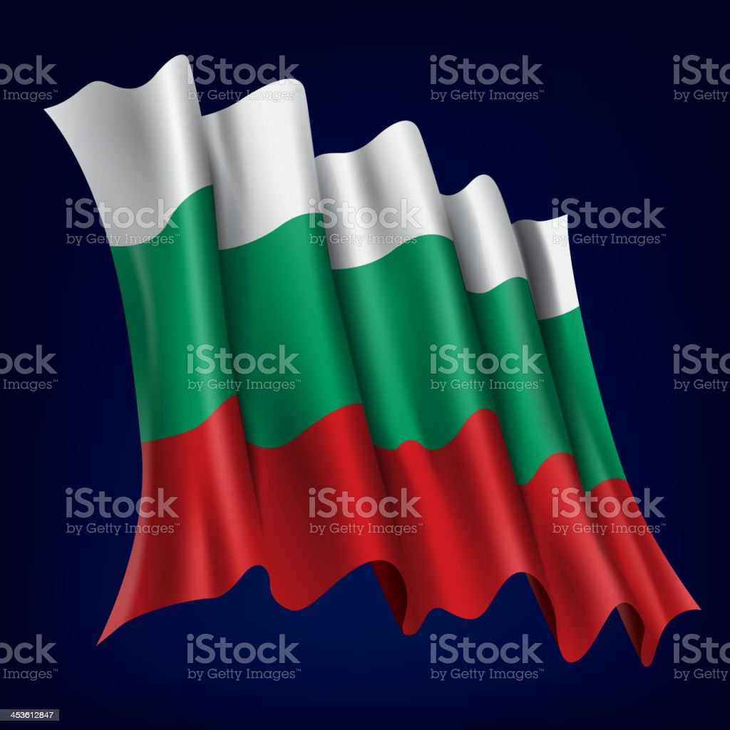 Bulgaria, Bulgarian Flag vector art illustration