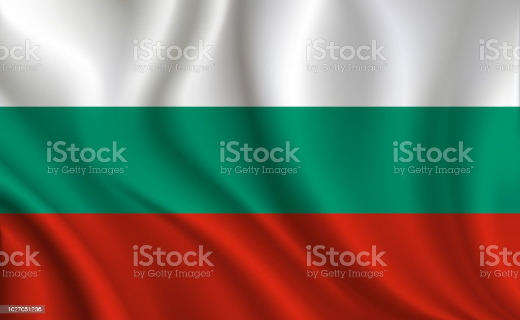Bulgaria flag background vector art illustration
