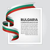 Bulgaria flag background