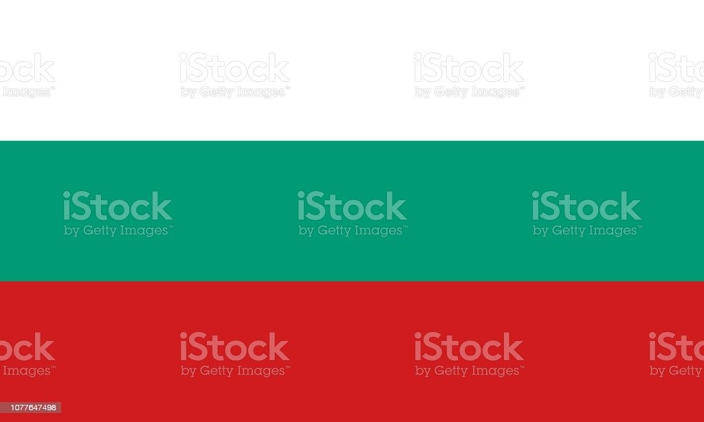Bulgaria flag. Official colors. Correct proportion. Vector vector art illustration