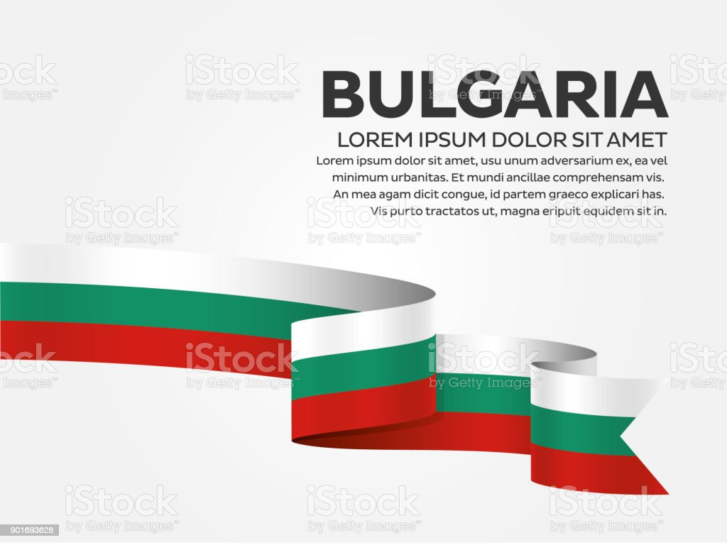 Bulgaria flag on a white background vector art illustration
