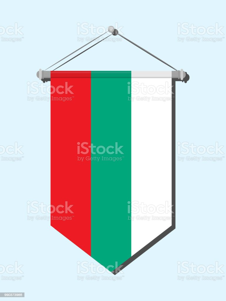 Bulgaria flag vector art illustration