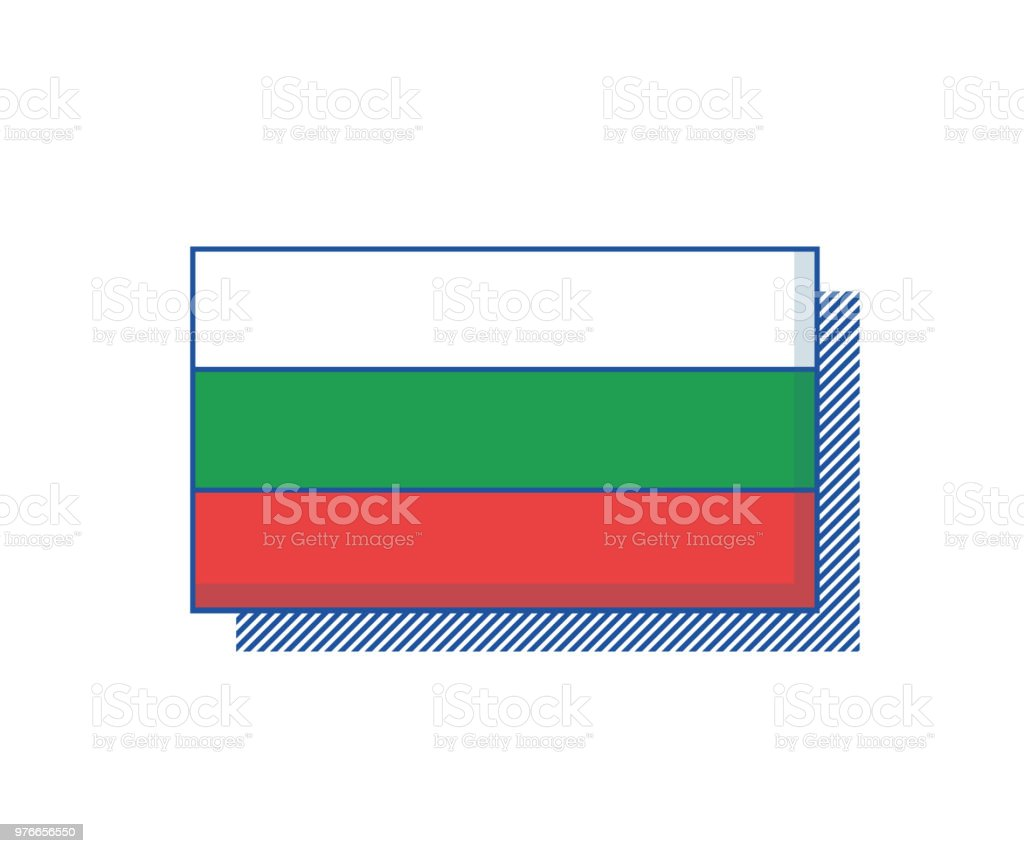 Bulgaria Flag vector. Trendy design vector art illustration