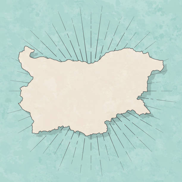 Bulgaria map in retro vintage style - Old textured paper vector art illustration