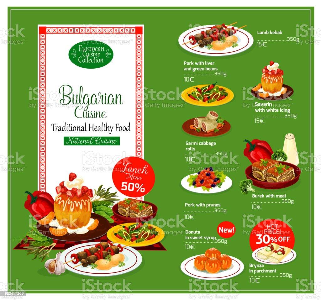 bulgarian cuisine restaurant menu template stock vector art more