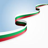 Bulgarian flag background. Vector illustration