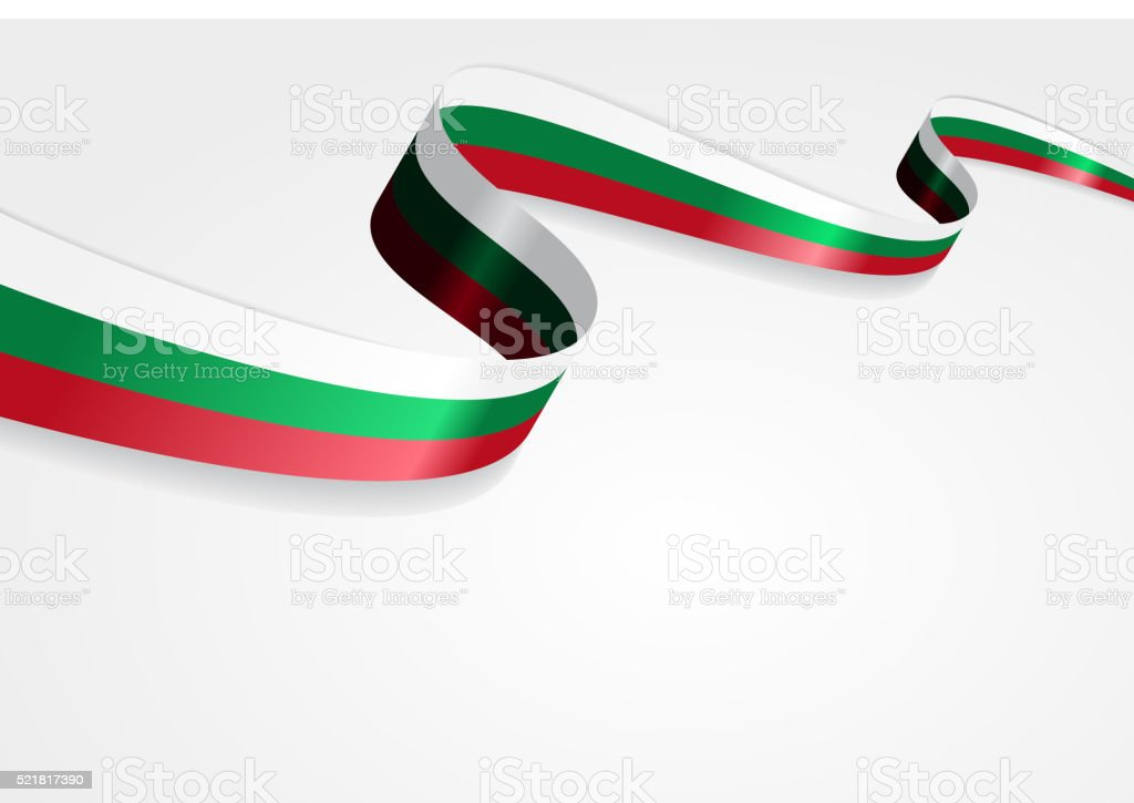 Bulgarian flag background. Vector illustration vector art illustration