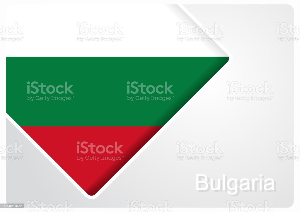 Bulgarian flag design background. Vector illustration. vector art illustration