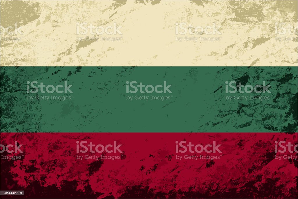 Bulgarian flag. Grunge background. Vector illustration vector art illustration