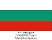 Bulgarian Flag in Official RGB Colours