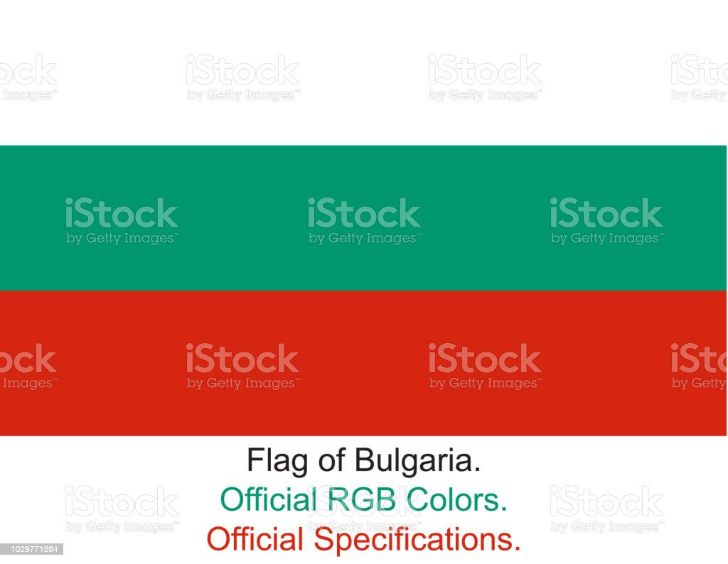 Bulgarian Flag in Official RGB Colours vector art illustration