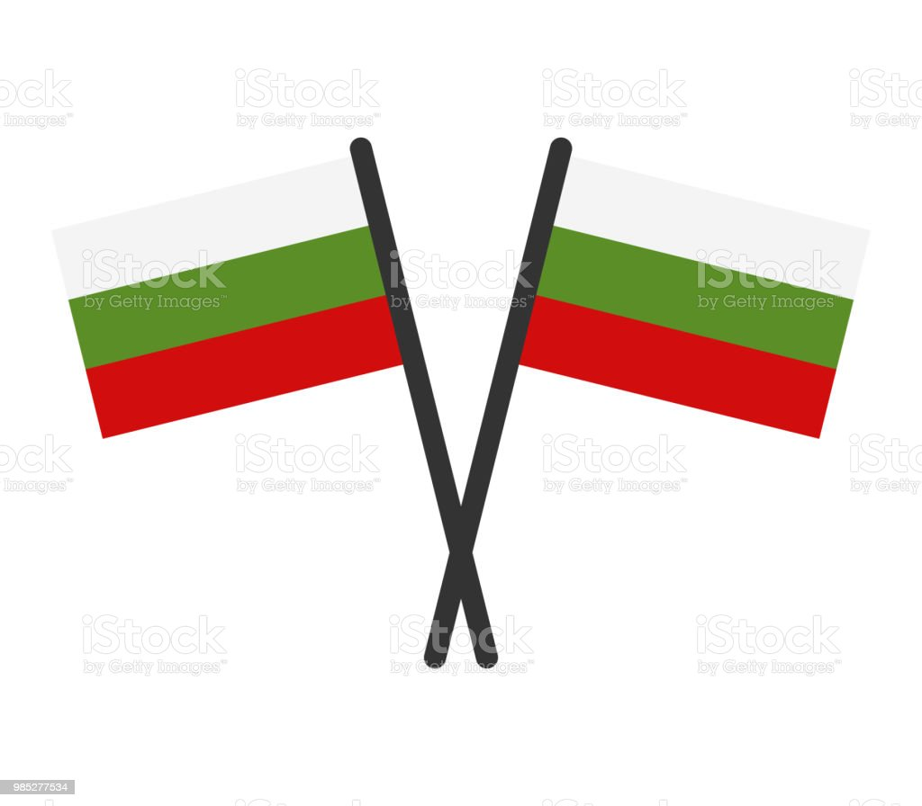 Bulgarian flag vector art illustration
