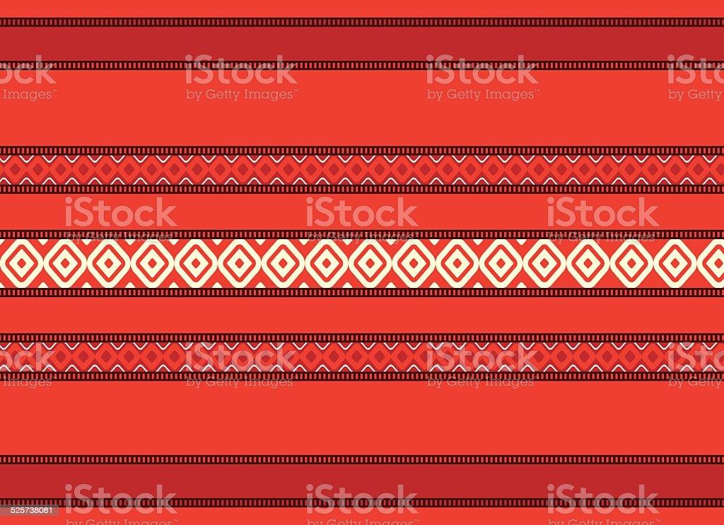 Bulgarian seamless decorative traditional national design pattern vector art illustration