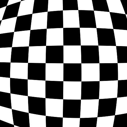 Bulging Checkerboard Background