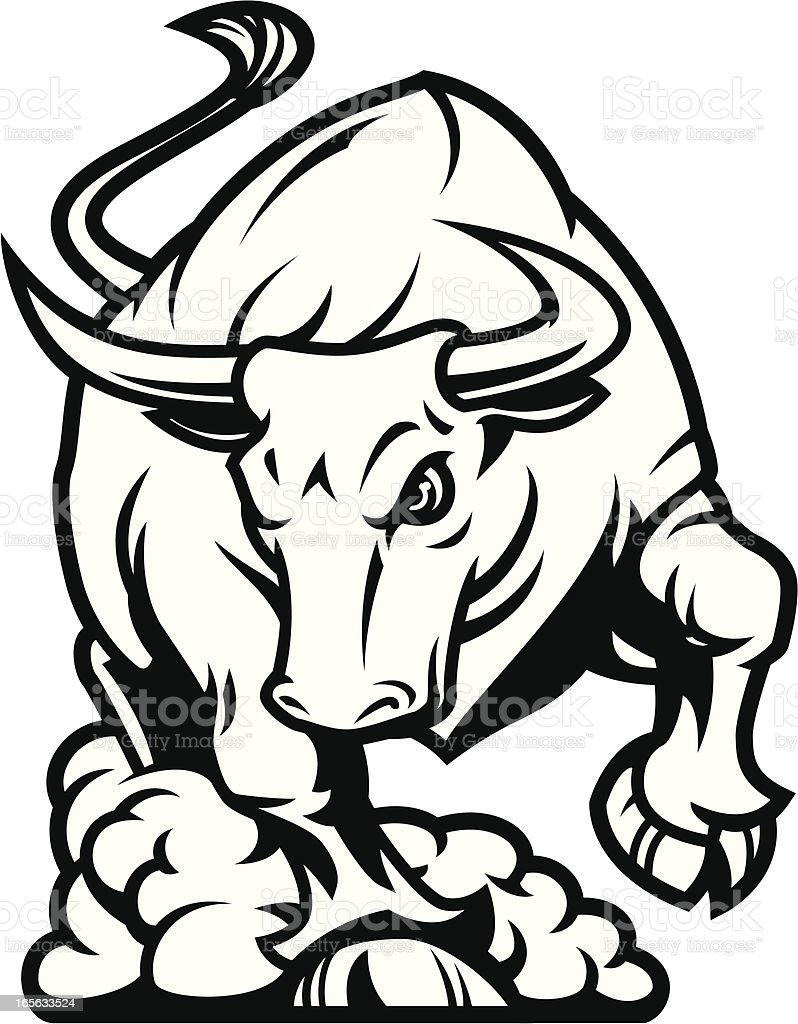 royalty free bull charging clip art vector images illustrations rh istockphoto com