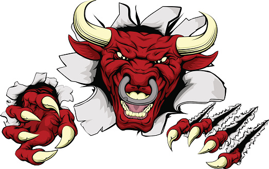 Bull claws smash out