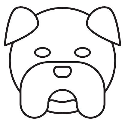 bull dog face vector icon design