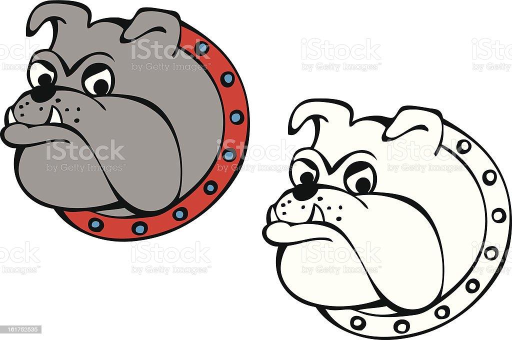 Bull Dog vector art illustration