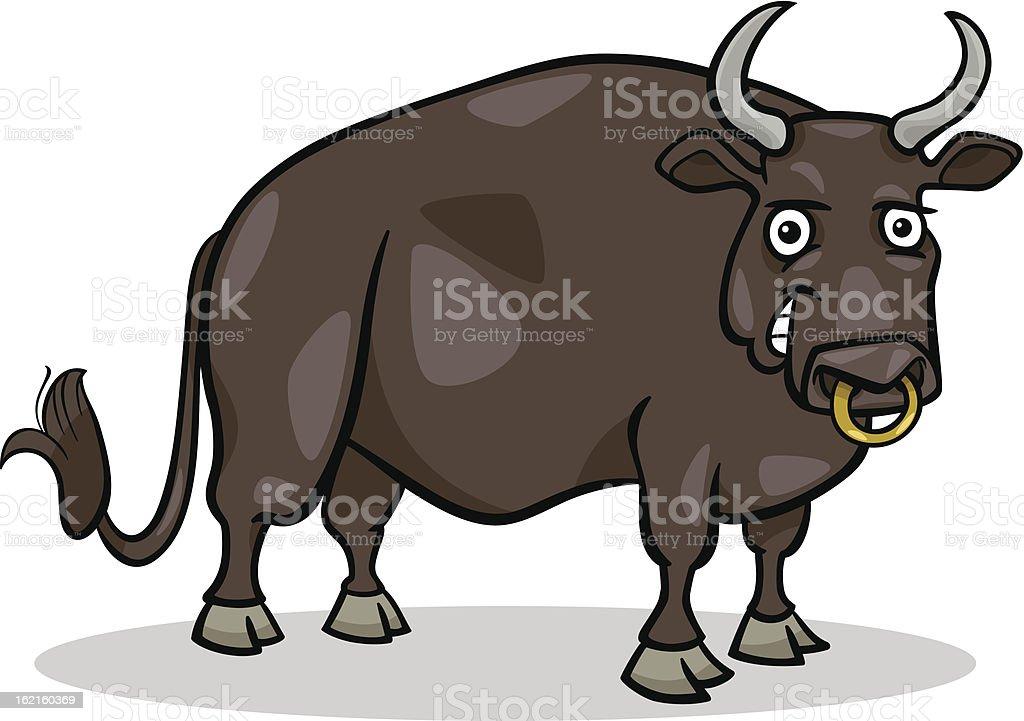 bull farm animal cartoon illustration royalty-free bull farm animal cartoon illustration stock vector art & more images of animal