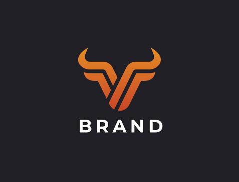 Bull head icon design.
