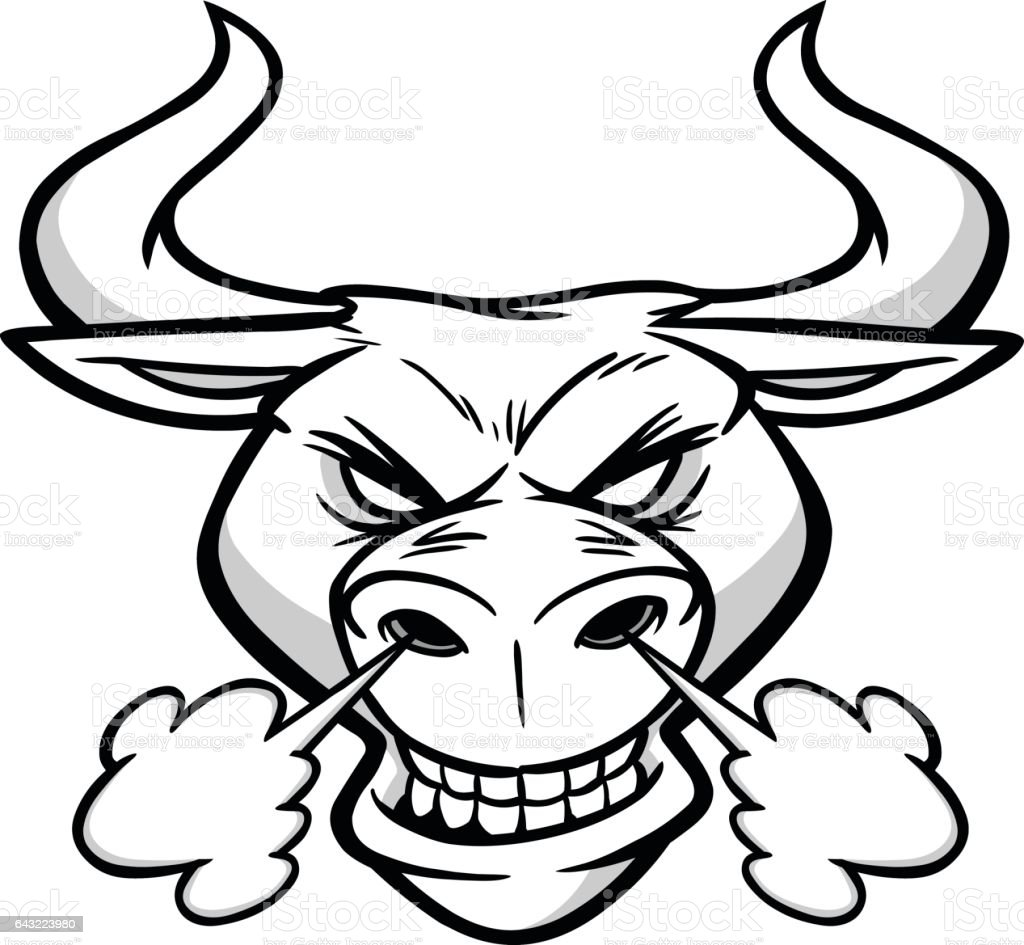 This is an image of Sly Bull Head Drawing