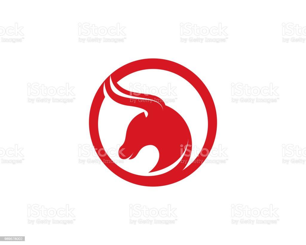 bull horn logo and symbols template icons app stock vector art