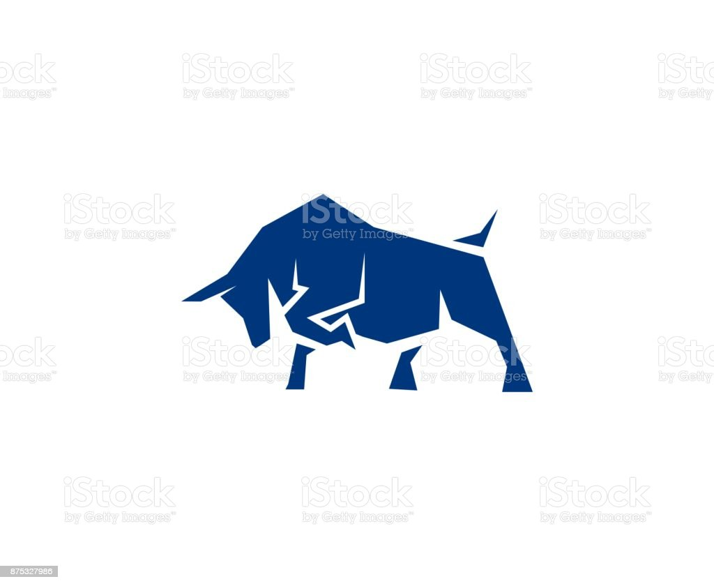 Bull icon vector art illustration