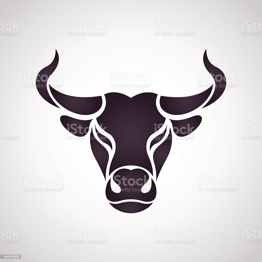 Bull logo vector art illustration