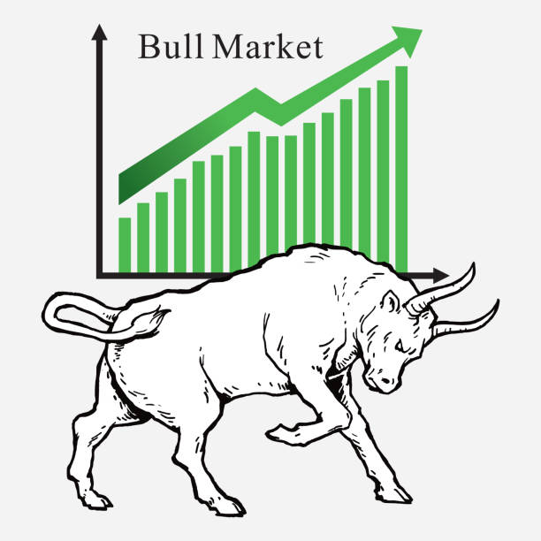 Bull Market Symbols Of Stock Market Trends Vector Illustration Stock