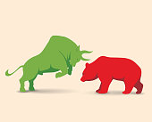 Bull market metaphor High resolution jpeg included. Vector files can be re-edit and used in any size