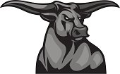 This Bull Mascot is great for any school or sport based design.