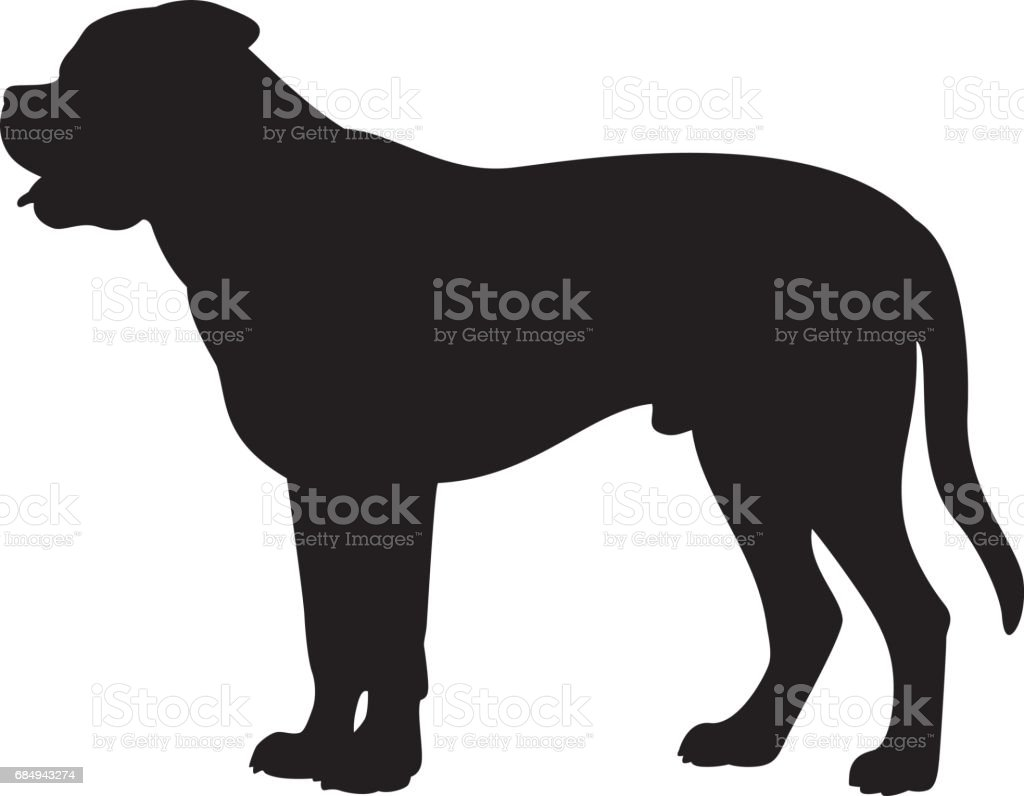 royalty free bull mastiff clip art  vector images   illustrations istock French Bulldog Face Outline french bulldog clipart