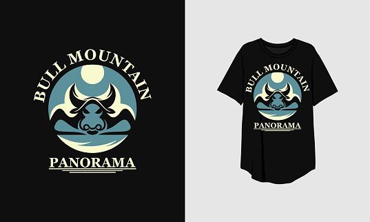 Bull Mountain T Shirt Clothing Design