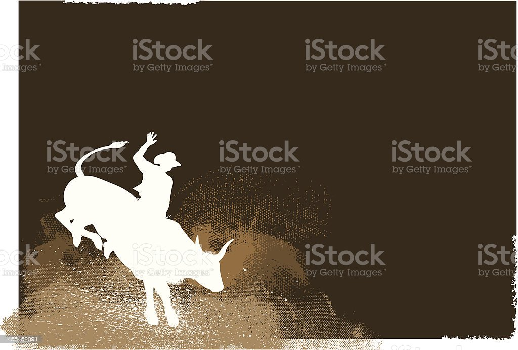 Bull Rider - Rodeo Cowboy Background