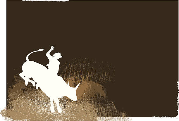 bull rider - rodeo cowboy background - rodeo stock illustrations, clip art, cartoons, & icons