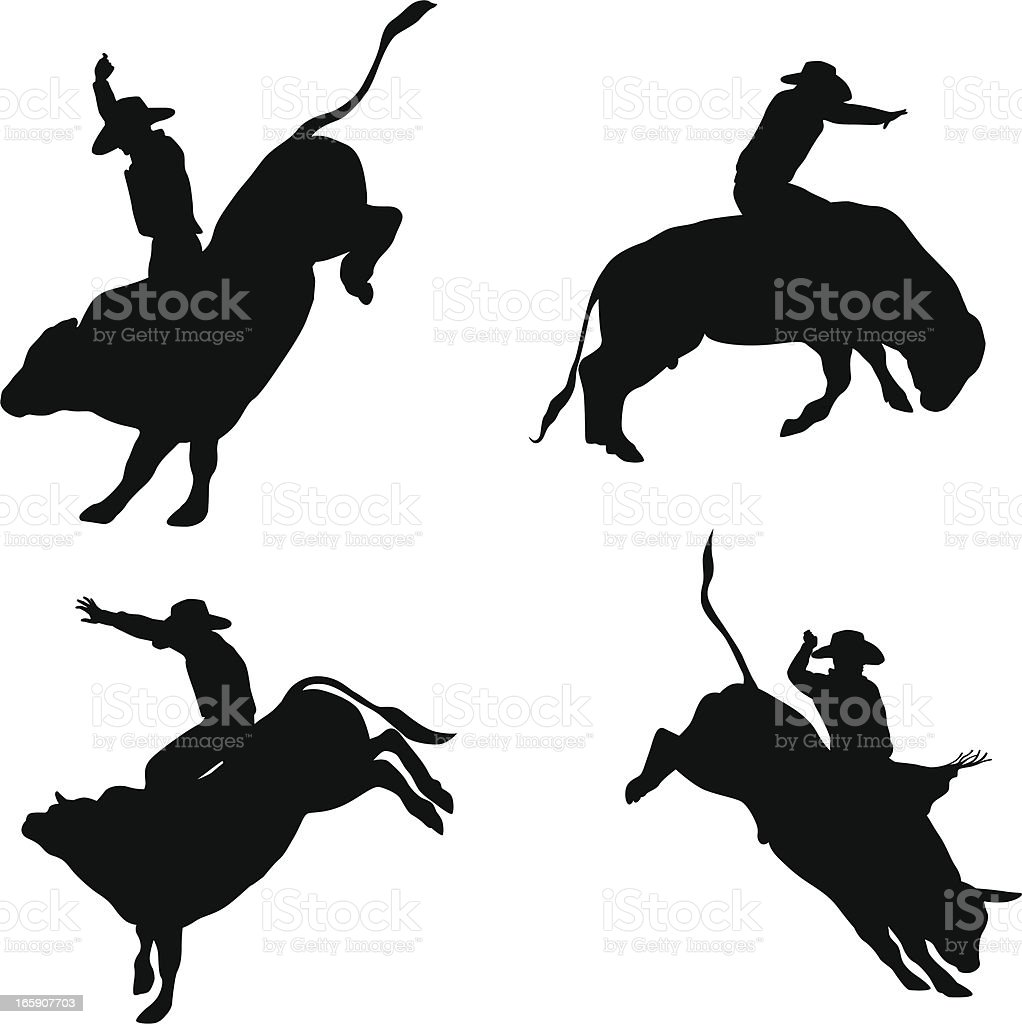 royalty free bull riding clip art vector images illustrations rh istockphoto com bull rider silhouette clip art bull riding clip art free