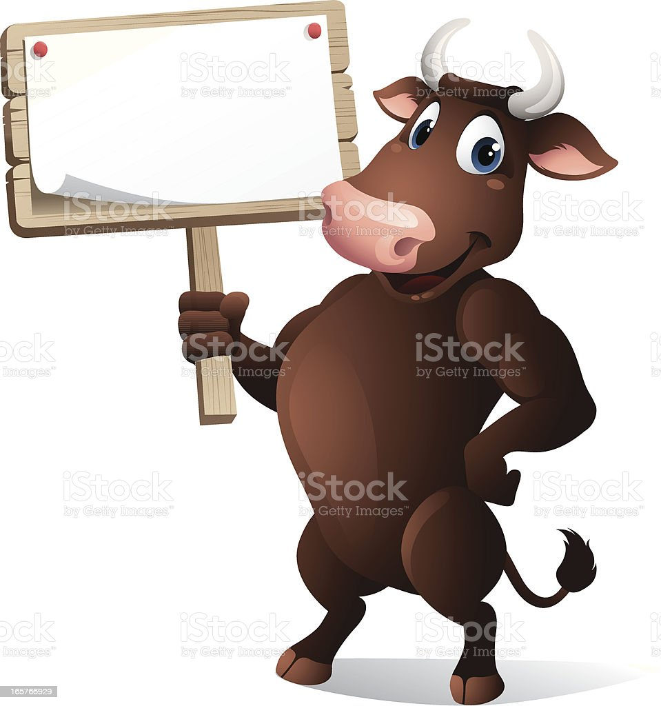 Bull - sign royalty-free stock vector art