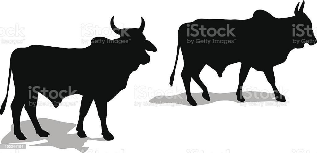 Bull silhouettes royalty-free bull silhouettes stock vector art & more images of animal