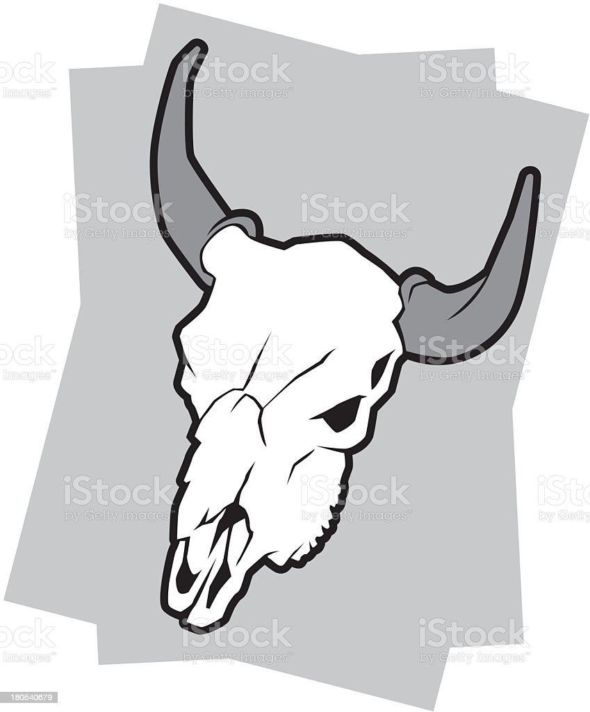 Bull Skull royalty-free stock vector art
