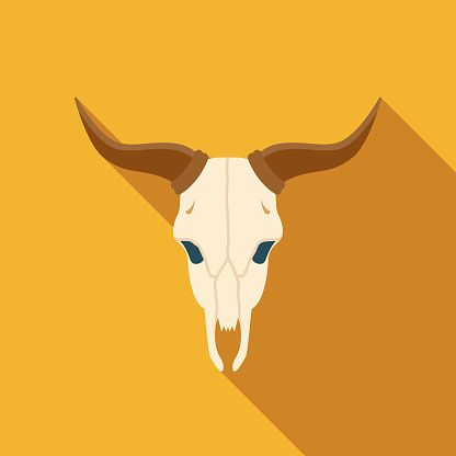 Bull Spain Flat Design Icon