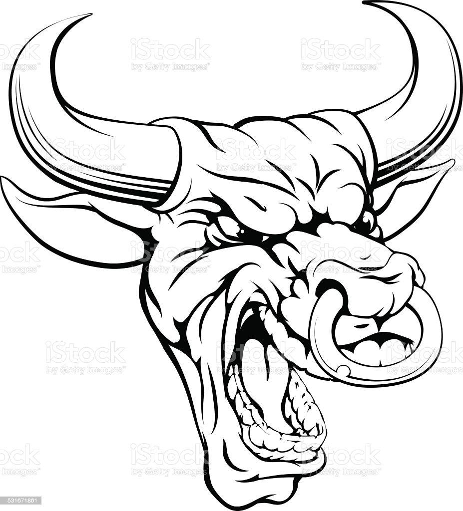 bull sports mascot head stock vector art 531671861 istock