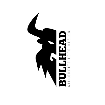 Bull Taurus Logo Template. Flat Vector illustration.