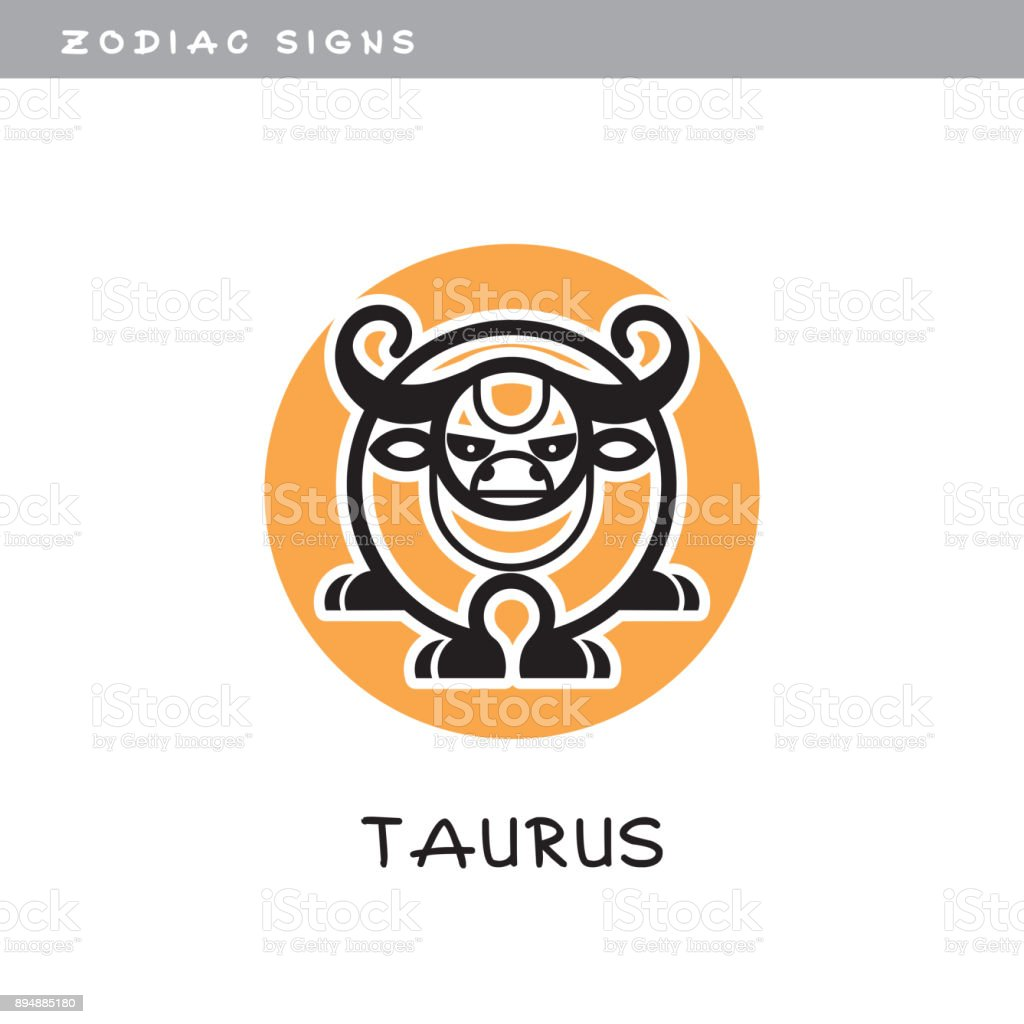 Bull Taurus Vector Icon Zodiac Sign Symbol Of Astrological Calendar