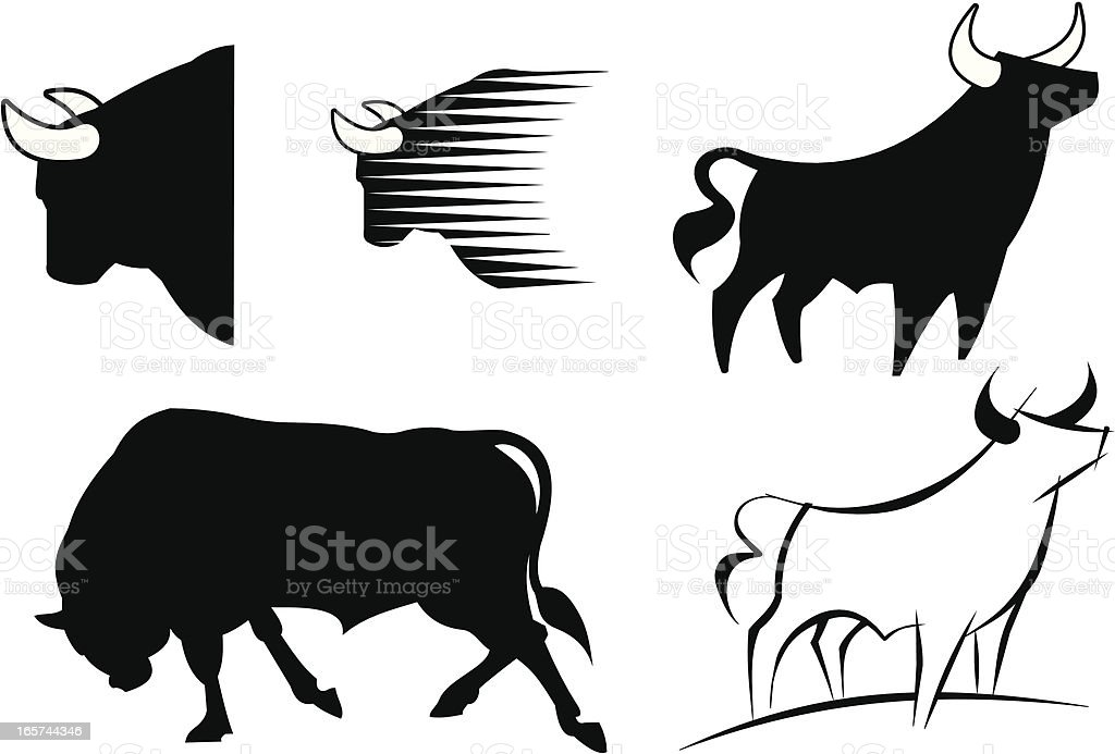 Bull royalty-free bull stock vector art & more images of animal